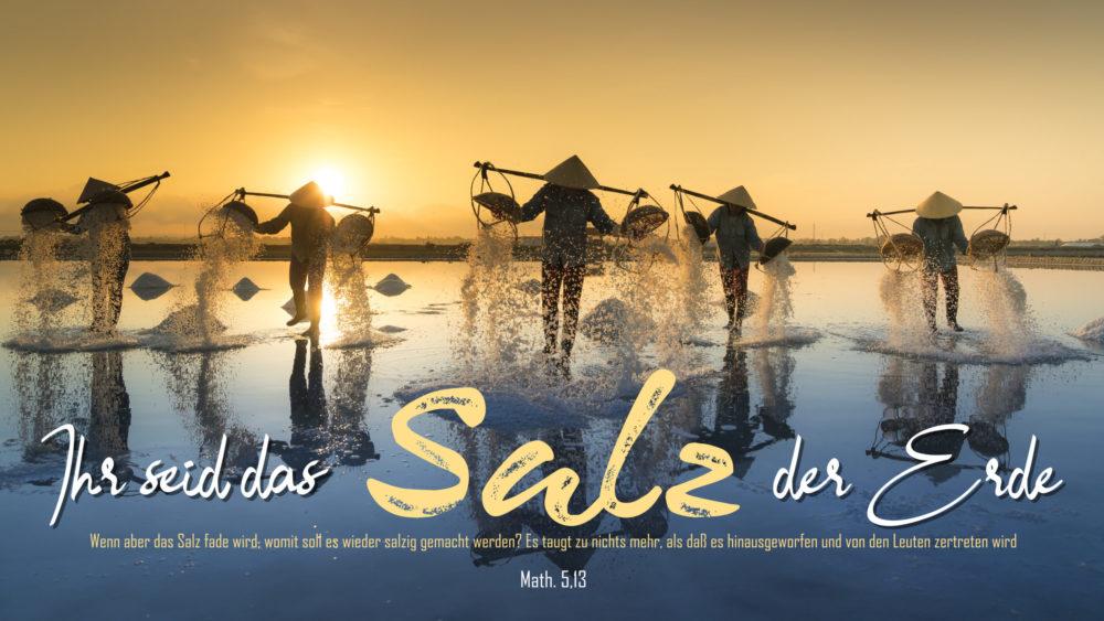 Ihr Seid Das Salz Der Erde Lied