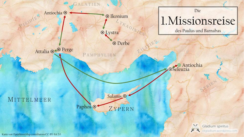 1.Missionsreise gesamt