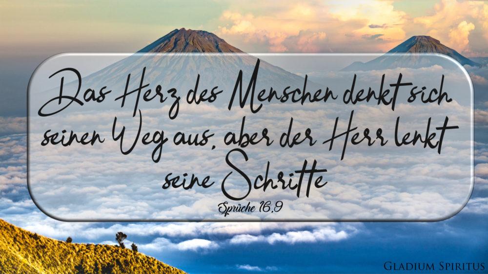 Sprüche 16,9