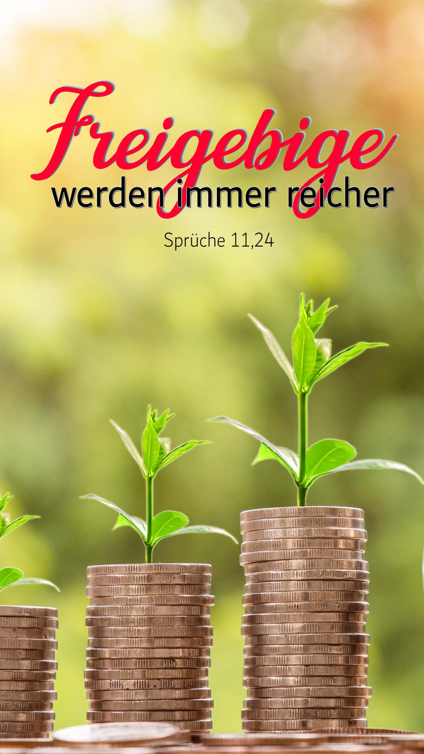 Sprüche 11,24 Handy