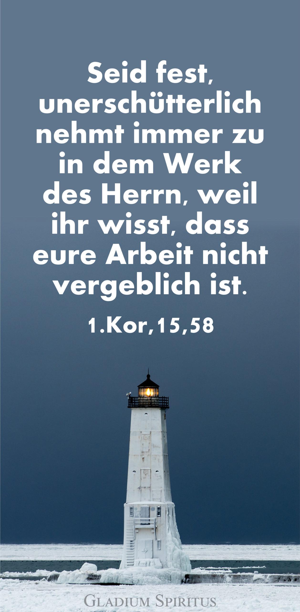 1.Kor. 15,58 Handy