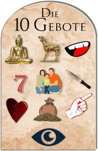 Die 10 Gebote Symbole